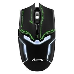 Dragon War ELE-G10, Aries Blue Sensor Gaming Mouse Black, 1yr Wty