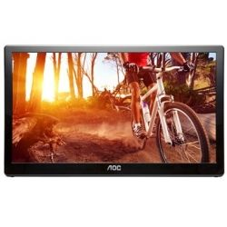 AOC E1659FWU 15.6 inch Portable LED Monitor - 1366x768, 8ms, USB3