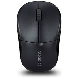 Rapoo 2.4GHz Wireless Optical Mouse Black - 1000dpi, 3Keys, 2yr Wty