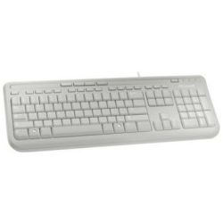 Microsoft Wired Keyboard 600 USB Port Eng Intl Row Hdwr - White