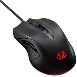 Asus Optical Gaming Mouse, 4 Level Max DPI 2500 with LED, Ambidextrous Design