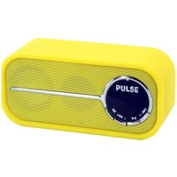 Laser Bluetooth speaker with FM Radio - Yellow