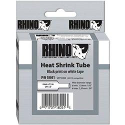 Dymo SD18055 Rhino Heat Shrink White 12mm x 1.5m