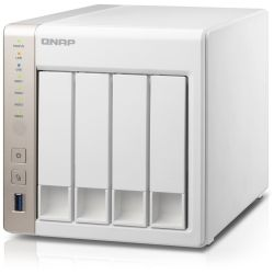 Qnap 4-Bay NAS Tower - Quad Core 2. 42GHz Celeron Processor, 8GB RAM