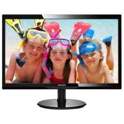 Philips 24 inch Widescreen FHD LED Monitor - 1920x1080, 16:9, 5ms, HDMI, VGA, VESA - Glossy Black