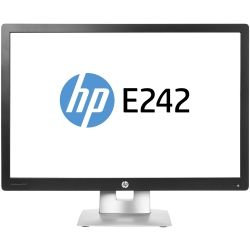 HP EliteDisplay E242 24 inch LED Monitor - 1920x1200, 16:10, DisplayPort, VGA, 1yr Wty Computer Components
