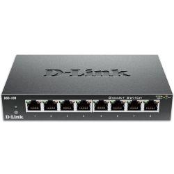 D-Link DGS-108 8-Port Gigabit Desktop Switch Metal Housing