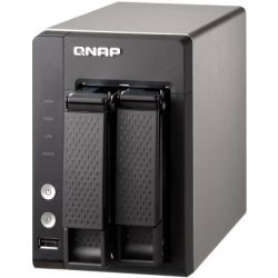 Qnap 2-Bay Turbo NAS Tower - Quad Core 1.7GHz Alpine, 1GB RAM