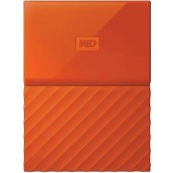 WD My Passport 4TB Portable Hard Drive HDD - Orange