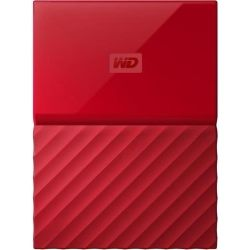 WD My Passport 1TB Portable Hard Drive HDD - Red