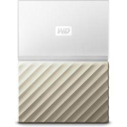 WD My Passport Ultra 4TB Portable Hard Drive HDD - Metal Finish, USB3.0 - White/Gold