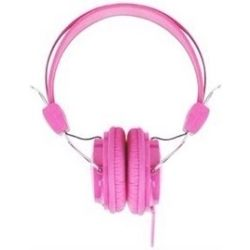 Laser Headphones Stereo Kids Friendly Colourful Pink
