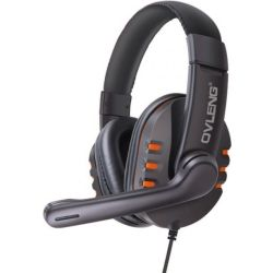 OvLeng X6 Wired Stereo Headphone with Microphone for Computer Games - Orange