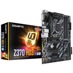 Gigabyte Z370-HD3 LGA1151 8Gen ATX Motherboard - Intel GbE LAN Crossfire, RGB