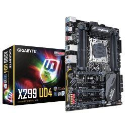 Gigabyte X299 UD4 Ultra Durable ATX Motherboard - S2066 8x DDR4 5x PCIe 2LAxM.2 RAID Intel GbE LAN 8x SATA, CF/SLI RGB Fusion