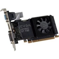 EVGA Low Profile EVGA GT730 1GB Video Graphics Card GD5, PCI-E, VGA, HDMI, DVI-I with Heatsink+fan. Retail Pack, UEFI compliant