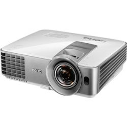 BenQ DLP Short Throw Data Projector, WXGA, 1280x800 Resolution, 3200 ANSI Lumens, SmartEco Mode, MHL Input