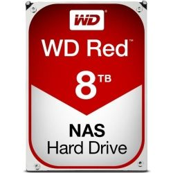 WD Red NAS Hard Drive, 8TB, SATA III 6 Gb/s, 5400-RPM, 3.5in, 256MB Cache, 3 years
