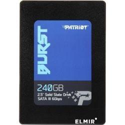 Patriot PBU240GS25SSDR, 240GB Burst, SATA III 6Gb/s, 3D TLC, 7mm, Speed: up to 555MB Read and 500MB Write, 32MB Cache, bad block management, Smart, MT