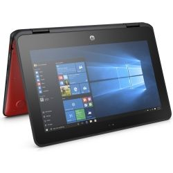 HP ProBook x360 11 EE 11.6 inch HD-Touch 2-in-1 Laptop - Pentium N4200, 4GB RAM, 128GB SSD, Win10 - Pen - Red