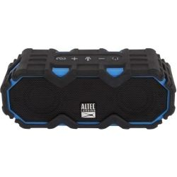 Altec Lansing Mini LifeJacket Jolt Black/Blue - EVERYTHING PROOF Rugged and Waterproof Bluetooth speaker (16hrs Battery / 2400mAh / Smartphone charge)