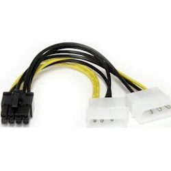 StarTech 6 LP4 to 8-Pin PCIe Power Cable Adapter