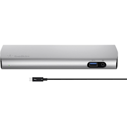 Belkin EXPRESS 4K DOCKING STATION, THUNDERBOLT 3(2), GbE(1), USB(3), DP(1), POWER, 1YR WTY