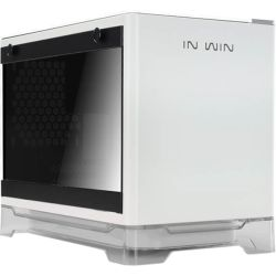 In Win A1-White MINI-ITX Case 600W RGB Stand