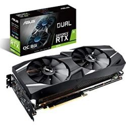 Asus Dual GeForce RTX    2070 OC edition 8GB GDDR6 with powerful cooling for higher refresh rates and VR gaming, 3 Years