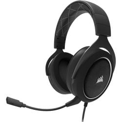 Corsair CA-9011174-AP, HS60 STEREO 7.1 Surround Gaming Headset, Black with White Trim, 2 Year Warranty