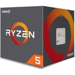 AMD Ryzen 5 2600, 6 Cores AM4 CPU, 3.9GHz 19MB 65W w/Wraith Stealth Cooler Fan Box
