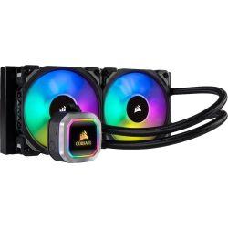 CORSAIR Hydro Series H100i RGB Platinum 240mm Liquid CPU Cooler - Dual Fan, 5yr Wty