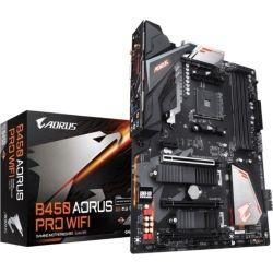 Gigabyte B450 Aorus Pro Wi-Fi Ryzen AM4 ATX Motherboard 4x DDR4 4x PCIe 2x M.2 DVI HDMI RAID Intel GbE LAN 6x SATA 1x USB-C, 7x USB3.1, RGB Bluetooth
