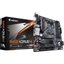 Gigabyte B450 AORUS M Ryzen AM4 mATX Motherboard 4x DDR4 3x PCIe 1xM.2 DVI HDMI RAID GbE LAN 6x SATA 8xUSB3.1 Quad CrossFire RGB Fusion