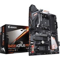 Gigabyte B450 AORUS Pro Ryzen AM4 ATX Motherboard 4x DDR4 4x PCIe 2x M.2 DVI HDMI RAID Intel GbE LAN 6x SATA 1x USB-C 7xUSB3.1 RGB Fusion