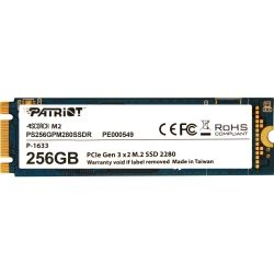 Patriot SCORCH PS256GPM280SSDR, 256GB M.2 NVMe 1.2 2280 PCIe gen3.0 x2, MTFB
