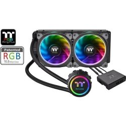 Thermaltake CL-W157-PL12SW-A, Floe Riing RGB 240 TT Premium Edition Patented Riing Plus RGB S/W and APP, LED WaterBlocks Design, 2 Year