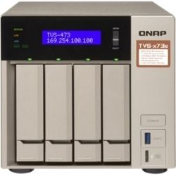 Qnap TVS-473E-4G, 4-Bay NAS - m.2 SSD Slot (2), 4GB, RX-421BD, GbE (4), HDMI, Tower, 2yr Wty (No Disk)
