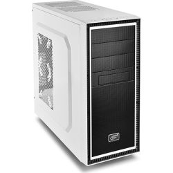 Deepcool Tesseract BF Mid Tower Case, 1 x 120mm Fan, White