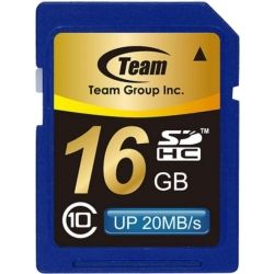 Team Group Memory Card SDHC 16GB, Class 10