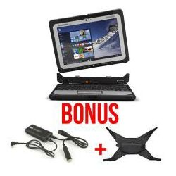 Panasonic Toughbook CF-20 (10.1 Detachable) Mk1 with 256GB SSD, 8GB Ram bundled with Handstrap (15CF-VST2011U) and Vehicle Charger (15PA1555-877)