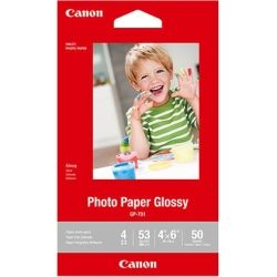 Canon 4x6 Glossy Photo Paper, 210 gsm - 50 Sheets