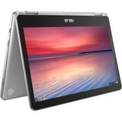 ASUS Chromebook Flip, M3-6Y30 Processor (4M Cache, up to 2.2 GHz), 12.5 FHD, 8GB DDR3, 32GB EMMC, HD WEBCAM, MICRO SD, 2xUSB-C, CHROME OS, SILVER, 1 Y