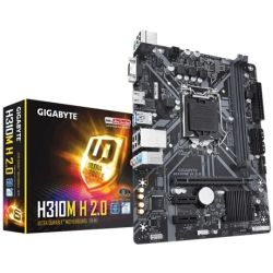 GIGA H310, 2x DDR4 DIMM, 1 x HDMI, 6 x USB, 1x RJ-45, 3 x AJ, support Windows 7, Micro ATX