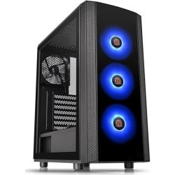 Thermaltake CA-1L8-00M1WN-01, Versa J25 Tempered Glass RGB Edition Mid-Tower Chassis, 2 Year