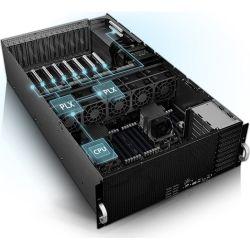 Asus 4RU Barebones Server, ESC8000 G4, 8 x GPU Compatible, Dual Xeon Socket, 24 x DIMM, 6 x 2.5 inch HDD Bays, iKVM, 1600w RPSx 3, 8 x PCI-E 3.0 x 16