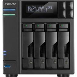 Asustor 4-Bay NAS - Intel Quad-Core, 4GB RAM, GbE, USB 3.0, eSATA, HDMI WoL, AES-NI, Lockable Tray