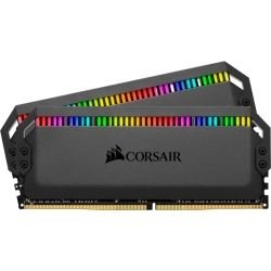 Corsair Dominator Platinum RGB 16GB (2x8GB) DDR4 3000MHz CL15 DIMM Unbuffered  15-17-17-35 XMP 2.0 Black Heatspreader RGB LED 1.35V Desktop PC Gaming