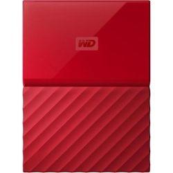 WD My Passport 2TB Portable Hard Drive HDD - USB 3.0, 3yr Wty - Red