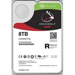 Seagate IronWolf Pro 8TB Enterprise NAS Hard Disk Drive HDD - 3.5 inch, SATA 6Gb/s, 7200rpm, 256MB Cache